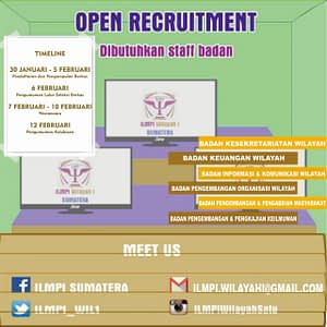 Open Recruitment ILMPI Wilayah I
