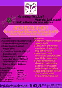 Open Recruitment ILMPI Wilayah V